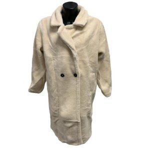 Zachte mantel beige