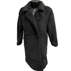Zachte mantel zwart